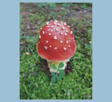 Red Spotted Mushroom Photo One Piece - Short Sleeve