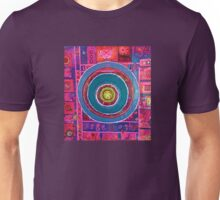 Blue bulls eye Unisex T-Shirt