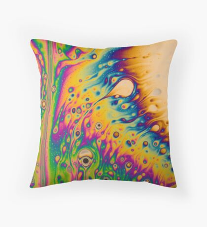 Light Interference on a Soap Bubble Throw Pillow