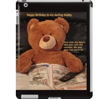 Remote love Teddy iPad Case/Skin