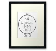 No Squares Yankee Gray  Framed Print