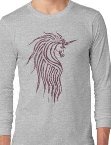 Unicorn - grape color Long Sleeve T-Shirt