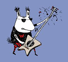 Wild Guitar Wolf  by Carla Martell