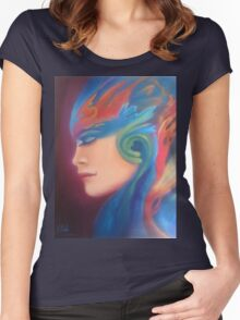 Surreal woman Women's Fitted Scoop T-Shirt