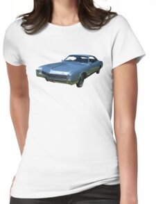 Blue Buick Riviera Womens Fitted T-Shirt