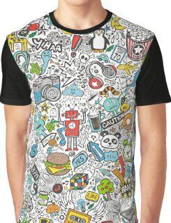 Comic Popart Doodle Graphic T-Shirt