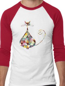 COLORFUL  CAT Men's Baseball ¾ T-Shirt