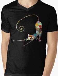 COLORFUL  CAT Mens V-Neck T-Shirt