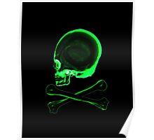Pirate skull & crossbones in black Poster