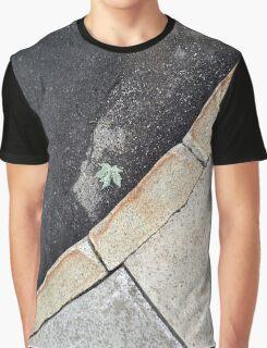 Leaf on the Sidewalk Graphic T-Shirt