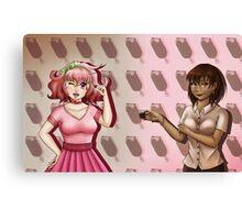 Ice-cream Girls Canvas Print