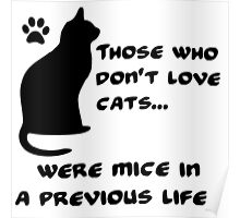 Everyone loves cats (B) Poster