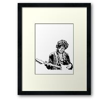 sketch of Hendrix Framed Print