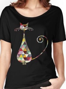 COLORFUL  CAT Women's Relaxed Fit T-Shirt