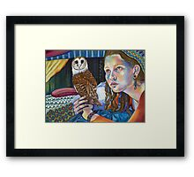 Tam and the Owl Framed Print