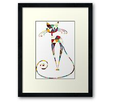 COLORFUL  CAT Framed Print
