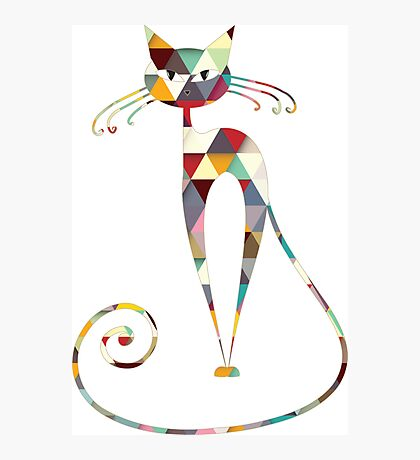 COLORFUL  CAT Photographic Print