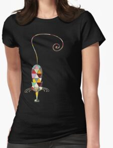 COLORFUL  CAT Womens Fitted T-Shirt