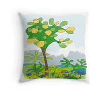 Simple line - jungle Throw Pillow