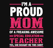 Teacher Mom Shirt - I'm a Proud MOM Of Awesome Teacher Women's Fitted Scoop T-Shirt