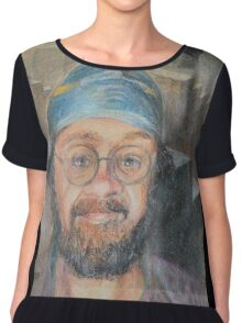 Almost All The Girls Are Taller Than Me - Portrait In Crayon Chiffon Top