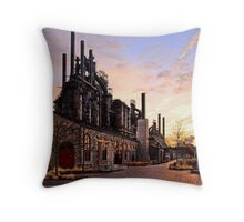 Industrial Landmark Throw Pillow