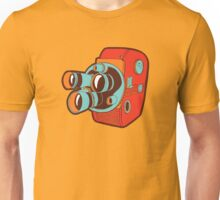 Retro Color Splash Cine Camera Blood Orange Unisex T-Shirt