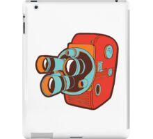 Retro Color Splash Cine Camera Blood Orange iPad Case/Skin