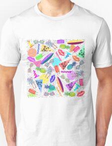 Retro 80's 90's Summer Beach Collage Pattern Unisex T-Shirt