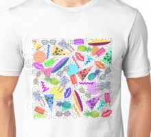 Retro 80's 90's Summer Beach Collage Pattern Unisex T-Shirt