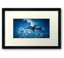 Airbus A300-600ST  over Broughton Framed Print