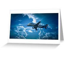 Airbus A300-600ST  over Broughton Greeting Card