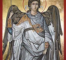 Archangel Michael - Eastern Orthodox icon by Filip Mihail