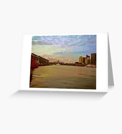 """""""View from Circular Quay"""" (Sydney) Greeting Card"""
