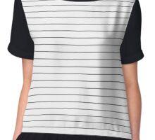 50 stripes of grey Chiffon Top