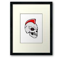 Skull evil punk Framed Print