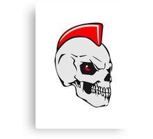 Skull evil punk Canvas Print