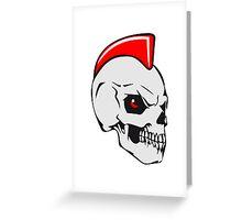 Skull evil punk Greeting Card