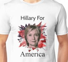 Hillary Clinton USA Presidential T-Shirt For America Slogan Unisex T-Shirt