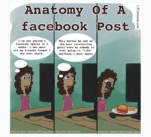 Anatomy Of A facebook Post T-Shirt