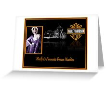 """""""MARILYN'S"""" Favourite Harley Motorcycle Print Greeting Card"""