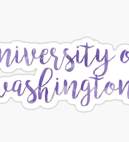 University of Washington/UW Watercolor Sticker
