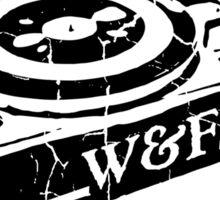 Wow & Flutter Turntables T-Shirt, Bags & Sticker - Worn Well Sticker