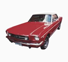 Red Ford Mustang Convertible T-Shirt