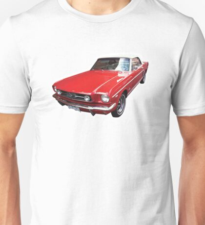 Red Ford Mustang Convertible Unisex T-Shirt