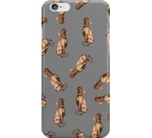 Dog Pattern 3 in Grey Gray iPhone Case/Skin