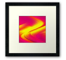 DREAM PATH (Reds, Oranges, Fuchsias, Purples & Yellows)-(9000 x 9000 px) Framed Print