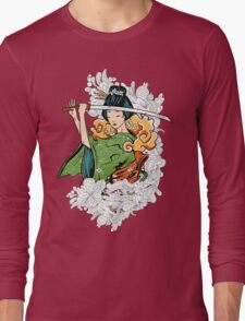 Geisha Samurai Long Sleeve T-Shirt