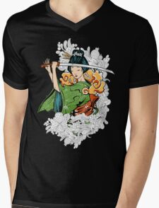 Geisha Samurai Mens V-Neck T-Shirt