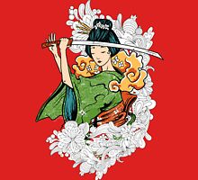Geisha Samurai Women's Fitted Scoop T-Shirt